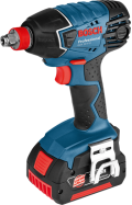 Аккумуляторный ударный шуруповерт-гайковерт Bosch GDX 18 V-LI Professional