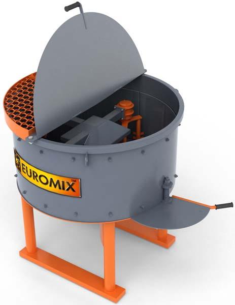 Бетоносмеситель роторно-планетарного типа EUROMIX 610.300M ЗОЛОТОЙ АКТИВАТОР (с броней)