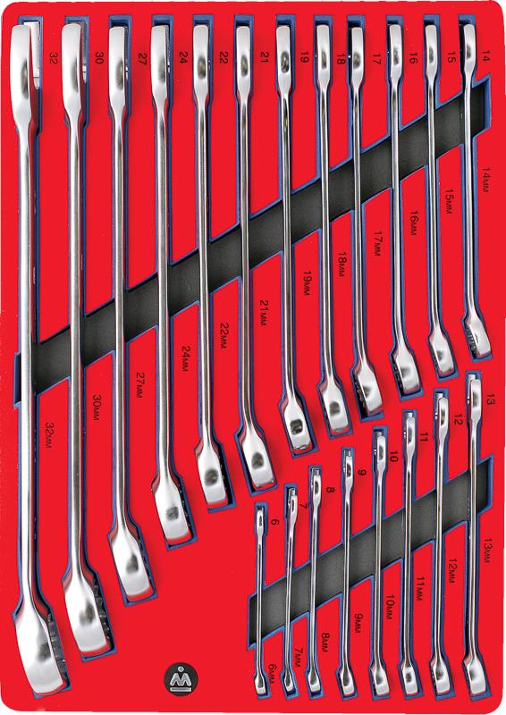 МАСТАК Набор комбинированных ключей, ложемент, 20 предметов