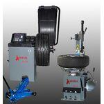 Комплект шиномонтажного оборудования, шиномонтажный + балансировочный станок