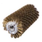 Брашировальная щетка валик O130х410 мм, ворс кордовый стальной латунированный O0,3 мм